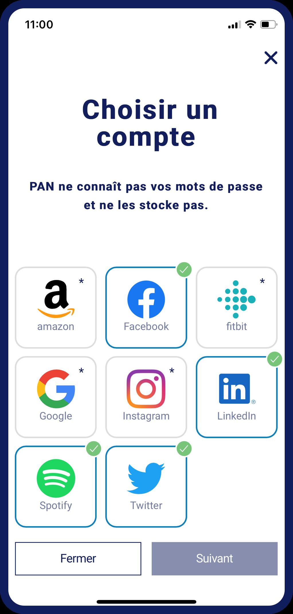 Connectez vos comptes